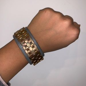 Jewelry - Leather metal cuff bracelet